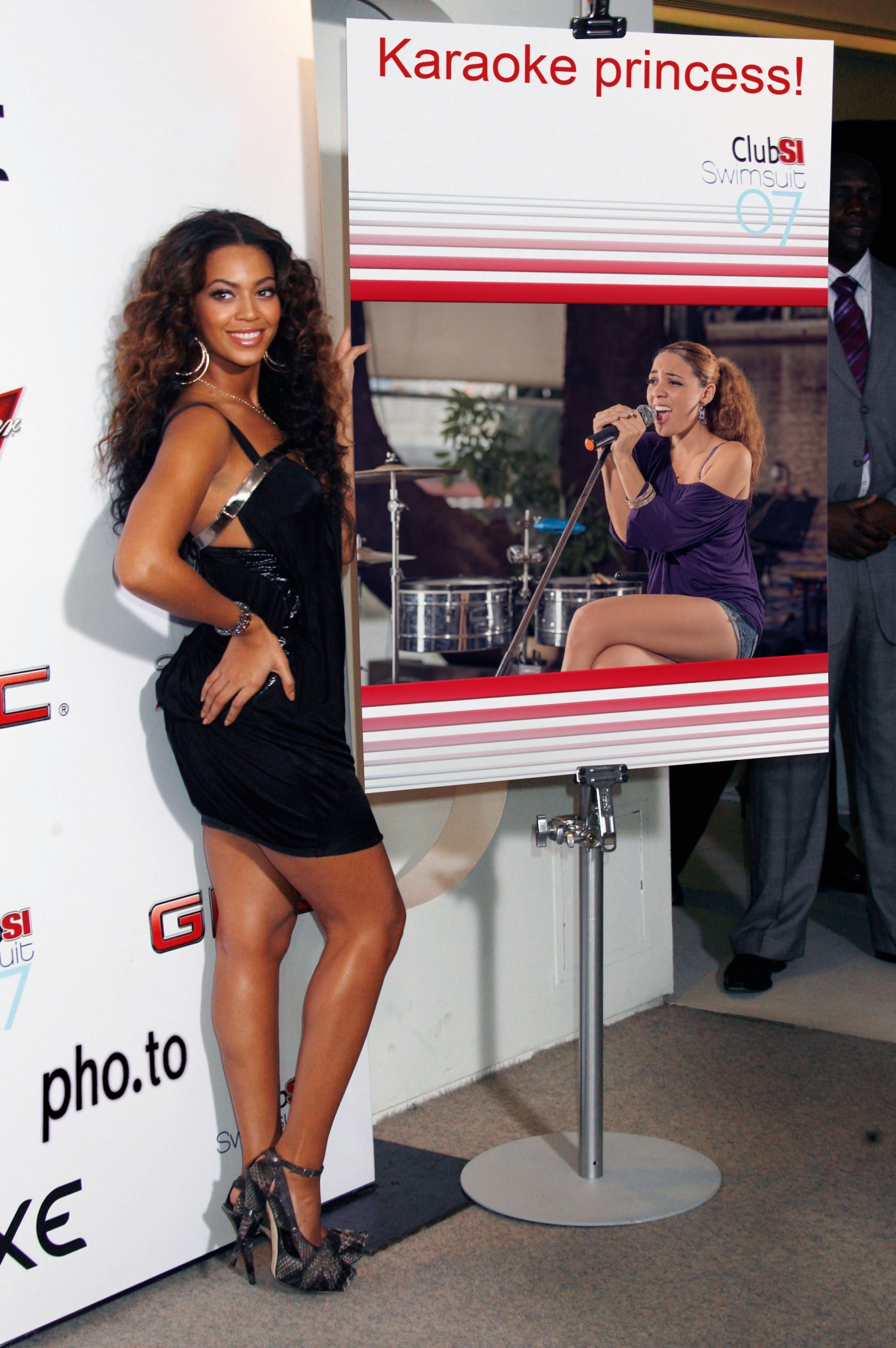Girl's photo is added to the 'Beyonce' photo montage.
