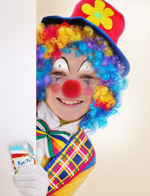 Celebrate the April Fools' day with free clown face in hole