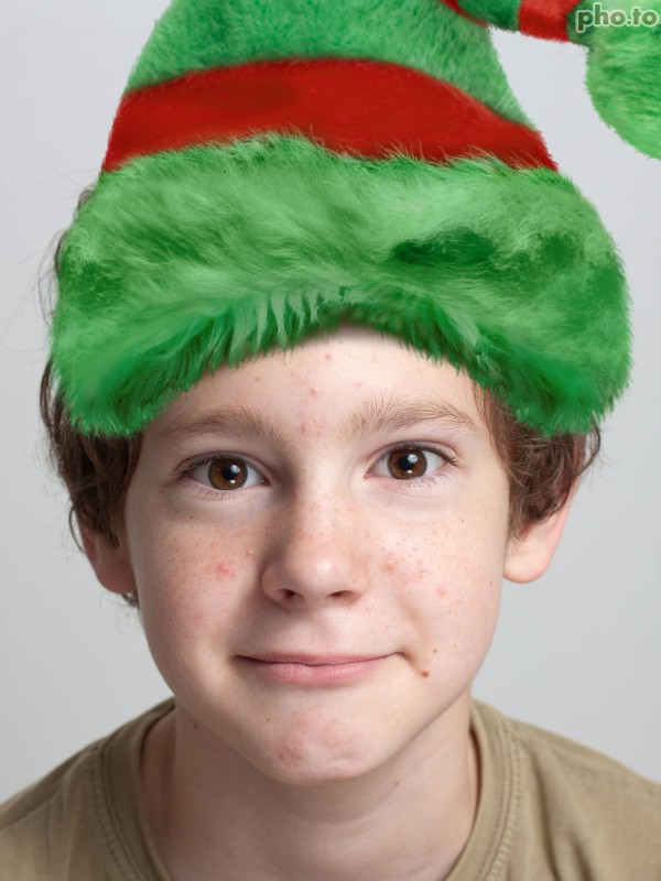 add christmas elf hat to your photo with elf hat template