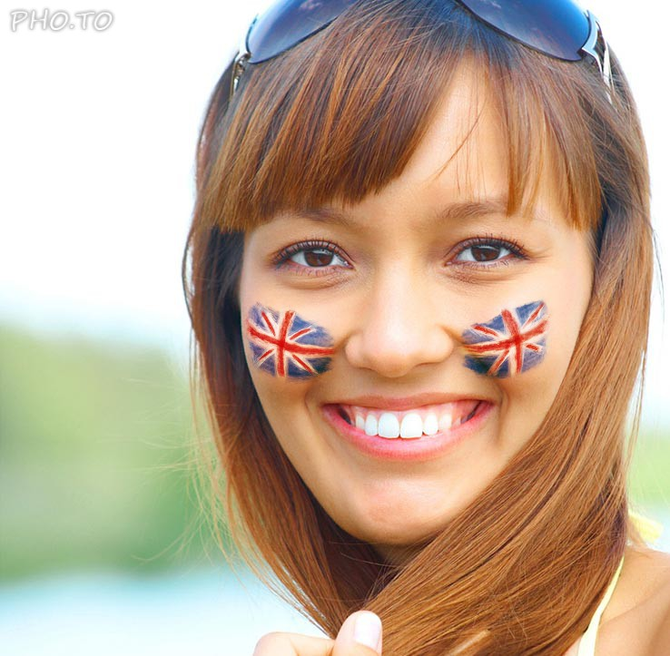 Flags of UK are everywhere in your country and on your face also during the national holidays!