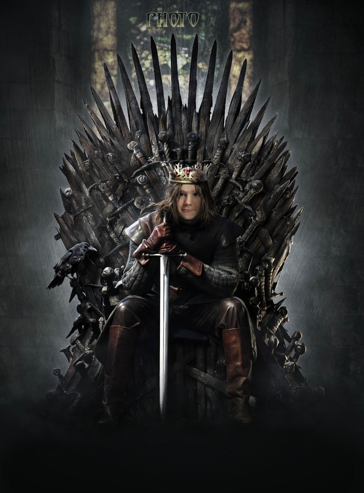 sit on the iron throne with game of thrones face montage
