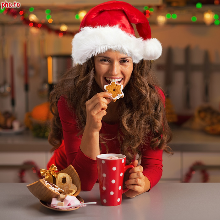Santa yourself put a santa hat on your photo online red santa hat is used to decorate a girls photo on christmas solutioingenieria