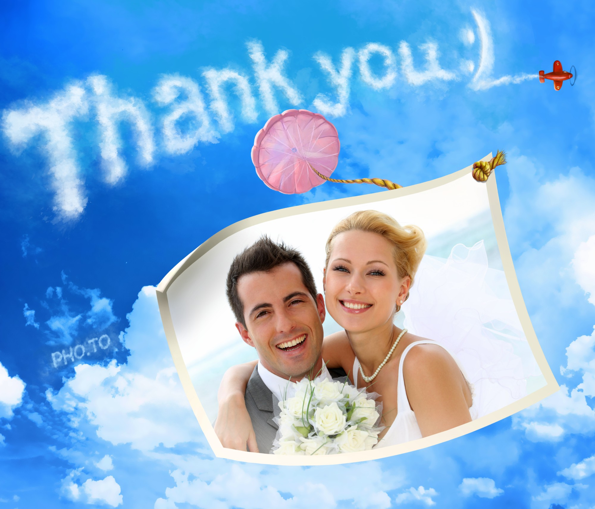 Make a personalized Thank You photo card online & for free