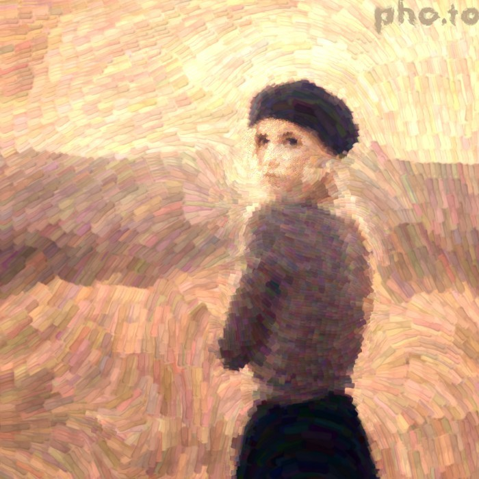 A photo turned into Van Gogh style painting online without Photoshop.