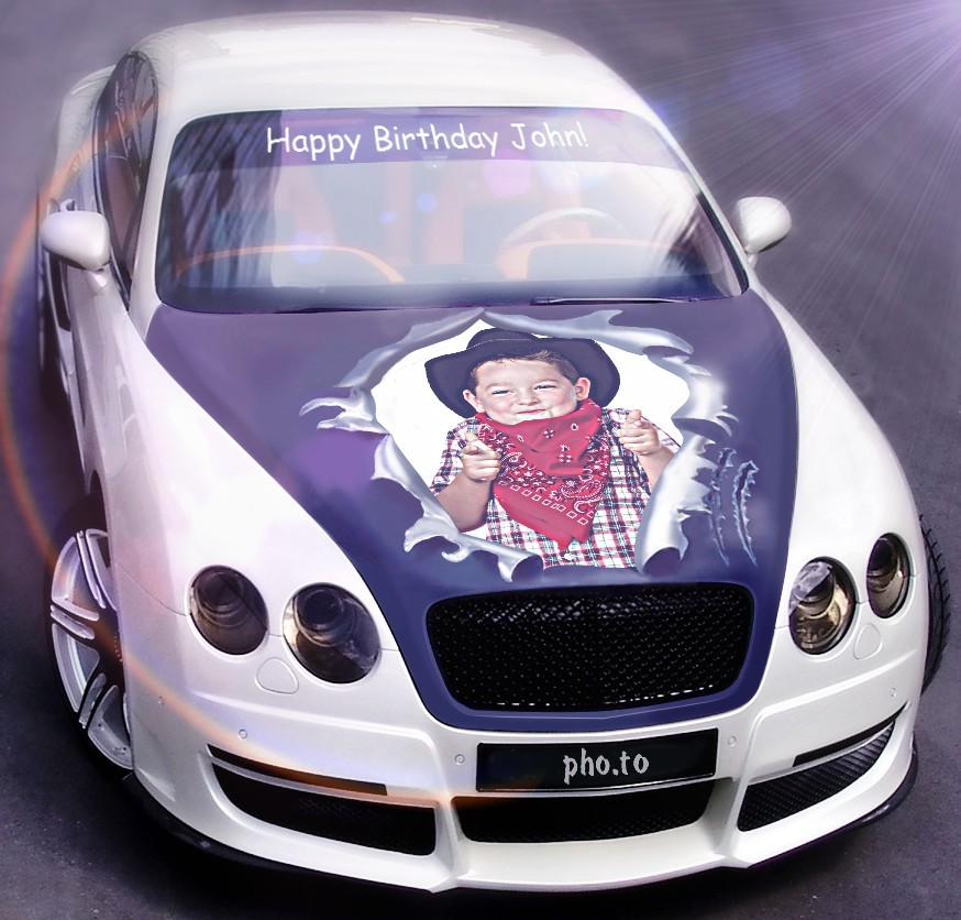 white bentley free birthday ecard template with car online. Black Bedroom Furniture Sets. Home Design Ideas