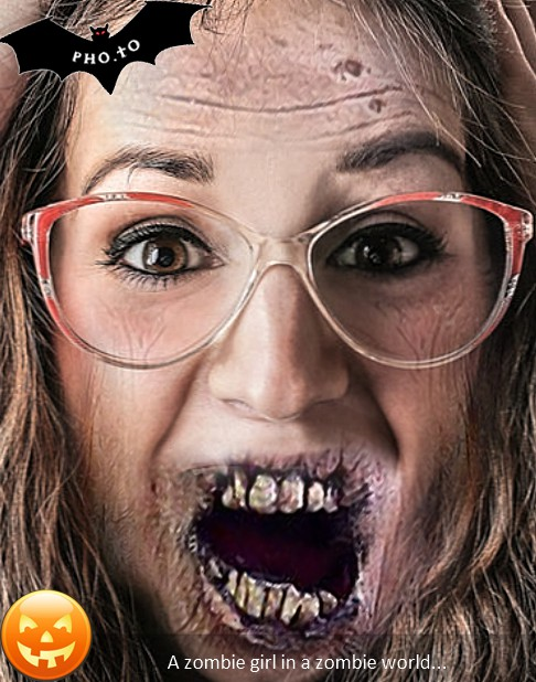 Zombie photo maker to zombify yourself in a face photo