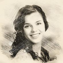Vintage Charcoal Sketch