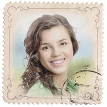 Retro Briefmarke