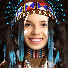 Native American Face in Hole