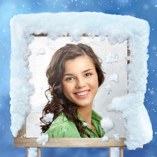 Cartello di Legno nella Neve