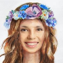 Couronne de fleur girly aquarelle