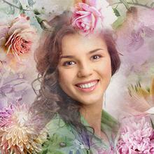 Винтажный фон с цветами