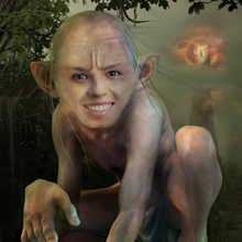 Gollum Face in Hole